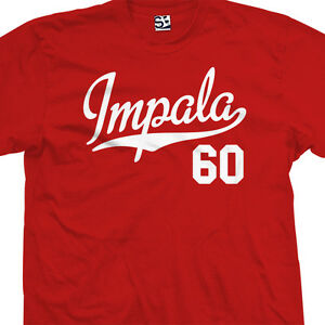 Impala-60-Script-Tail-T-Shirt-1960-Lowrider-Classic-Tee-All-Sizes-amp-Colors