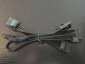 Corsair Strom Kabel Type4 34-0 00473 / 6Pin PCI Express auf 4x Molex 4 Pin 69cm