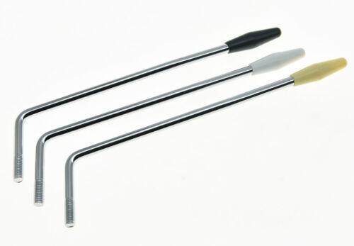 Chrome w// WH//BK//Cream Tip 5.8mm Thread ST Strat Guitar Tremolo Arm Whammy Bar