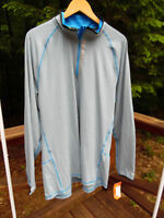Hind Mens Xxl 2xl Blue Gray 1/2 Zip Running Shirt Jacket $44