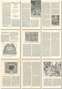 1960-William-Caxton-Mercer-Translator-And-Master-Printer-Old-Article