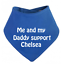 PERSONALISED BABY BIB or BANDANNA NEWBORN PINK GIRLS GIFT SHOWER CHELSEA//UTD