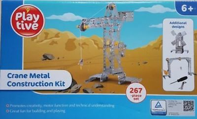 Playtive Crane Metal Construction Kit 267 piece set 6 years