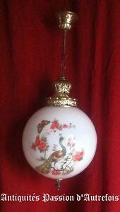Ensoleillé B201908 - Lampe , Lustre , Globe Plafonnier électrique En Verre - Très Bon état