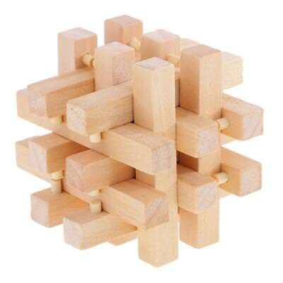 Kong Ming Lock ''Débloquer Les 18 Bâtons'' Bois Jouet Enfant-7.5*7.5*7.5cm