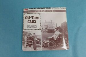 VINTAGE VIEW-MASTER 3D REEL PACKET B795 OLD TIME CARS IN BLACK & WHITE SEALED