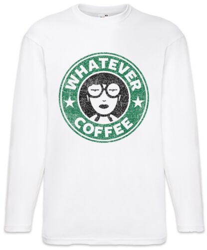 Daria Whatever Coffee Men Long Sleeve T-Shirt Fun Morgendorffer Lanes Club