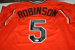 bdad0ac04f7 Image is loading ORIOLES-BROOKS-ROBINSON-5-autographed-signed-orange-jersey-