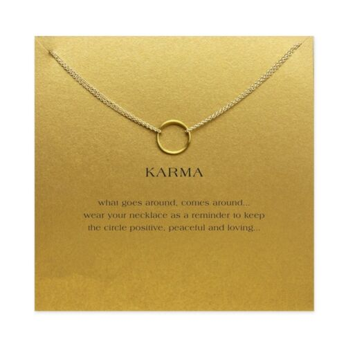 karma Double chain Circle necklace alloy Pendant Clavicle necklace lucky jewelry
