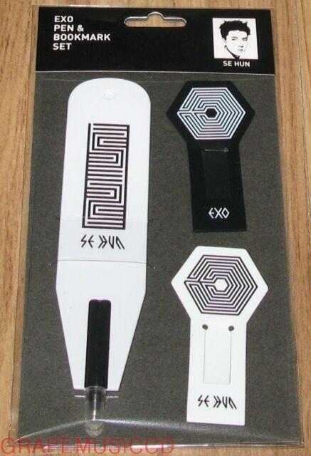 EXO OVERDOSE EXO-K SEHUN PEN & BOOKMARK SET SM LOTTE POP UP STORE GOODS NEW