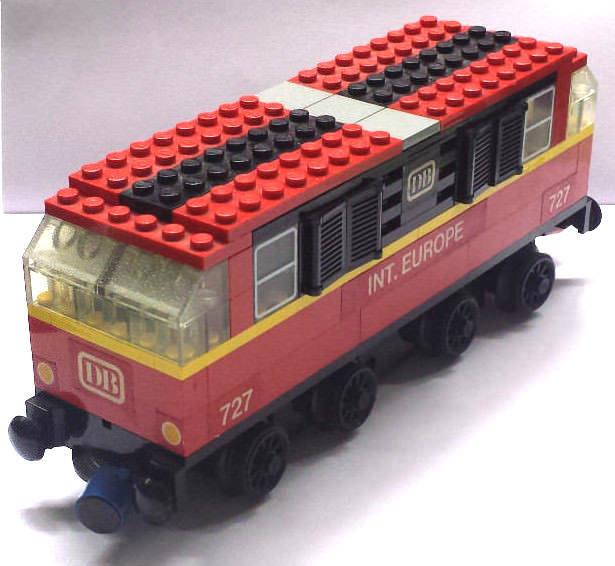 1x LEGO ® System DB 727 INT. Europe e-Lok ROSSO 12v treno ferrovia