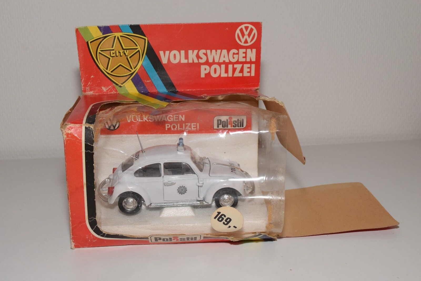 POLISTIL S643 S-643 VW VOLKSWAGEN BEETLE KAFER POLIZEI POLICE VN MINT BOXED RARE