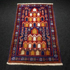 Alter Orient Teppich 137 X 86 Cm Belutsch Gebetsteppich Baluch Old Carpet Rug SorgfäLtige FäRbeprozesse