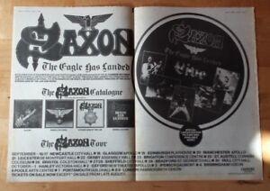 Saxon-The-Eagle-has-landed-tour-1982-press-advert-2-page-56-x-40-cm-mini-poster