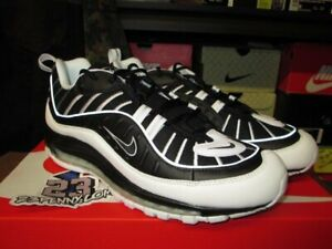 buy popular 0aeaa 74320 Details about SALE NIKE AIR MAX 98 WHITE BLACK REFLECTIVE SILVER NEW 640744  010 SZ 8-13 RUN
