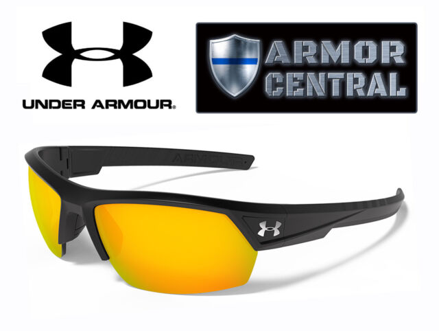 0558c02c177 NEW Under Armour UA Igniter 2.0 Sunglasses - Satin Black Frame   Orange Lens