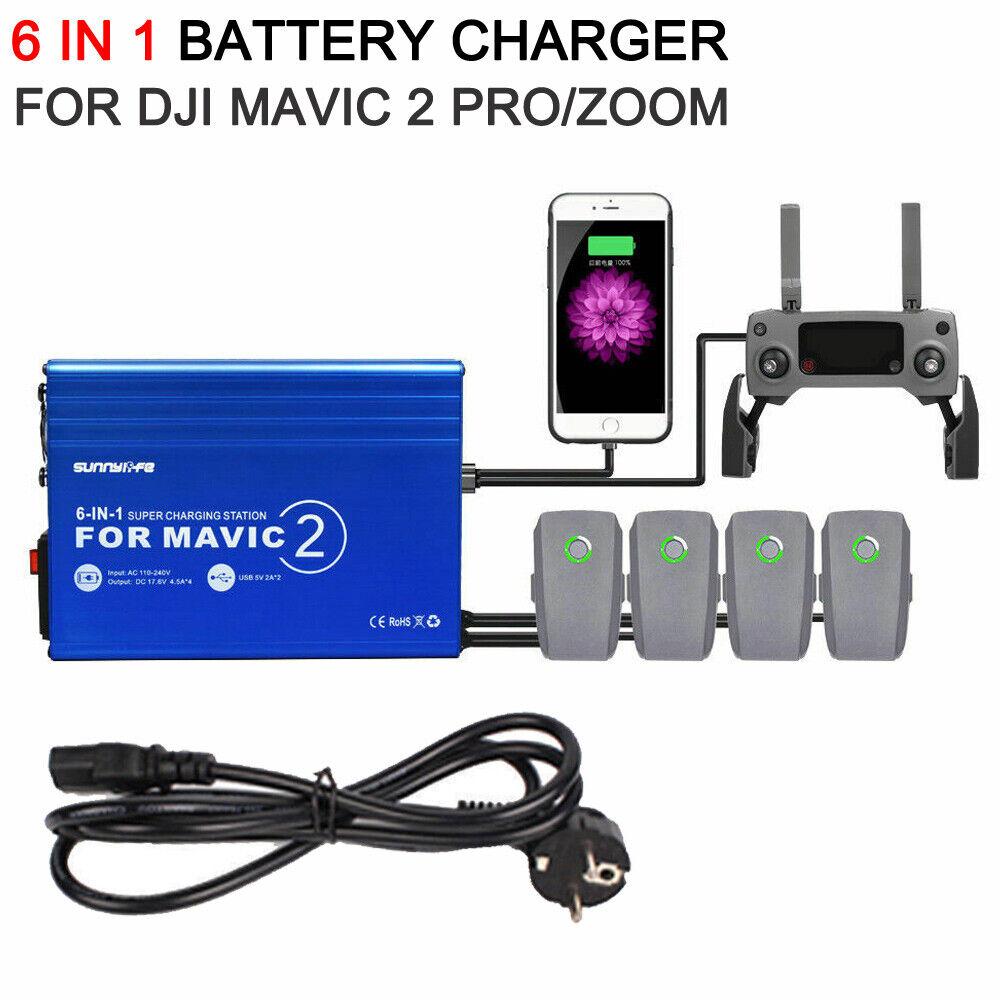 6 in 1-autoicabatterie autoica veloce con Hub  USB per DJI Mavic 2 Pro Zoom Drone  outlet in vendita