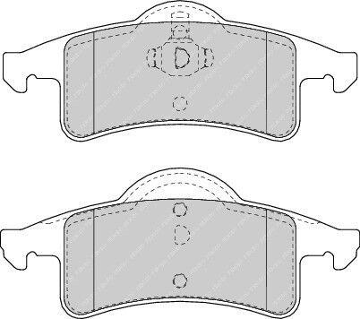 FDB1524-12 Month Warranty! Brand New Ferodo Rear Brake Pad