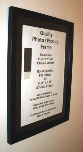 Photo Picture Frame Black fit14x19 14x20 14x21 14x22 14x23 14x24 Mount A3 PERPX