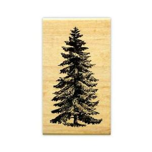 PINE-TREE-Med-mounted-rubber-stamp-scenery-Christmas-winter-19