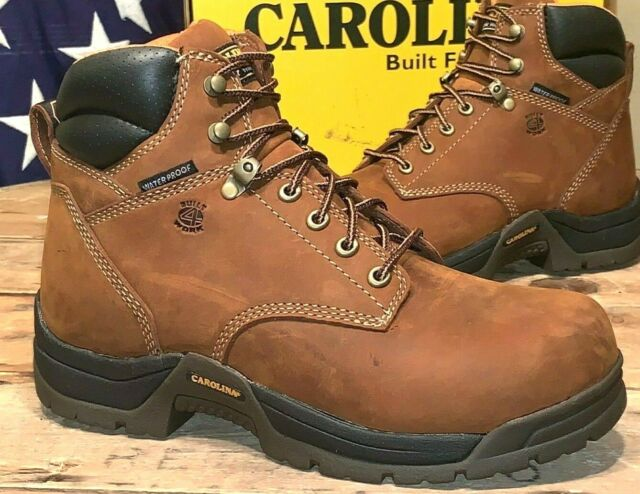 6inH 10 Textured Carolina SHOECA5520 Wrk Boots Mens BRN PR D