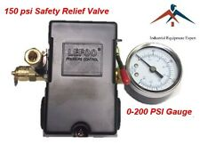 Air Compressor Pressure Control Switch 4 Ports 95 125 Psi With Gauge Pop Off Valve