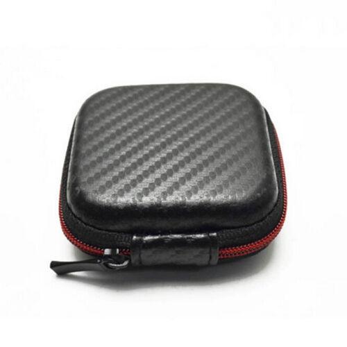 Mini Square Tasche Tasche Aufbewahrungsbox für In-Ear Kopfhörer Headset ec  JMM0