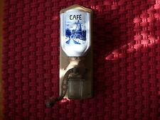 Kaffeemühle alte Wandkaffeemühle ca. 100 Jahre alt Delfter Dekor