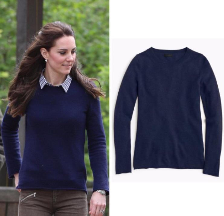 J. Crew Italian Cashmere Sweater suéter azul Heather Midnight  aso s new nuevo  precios bajos