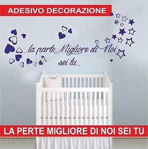 Wall stickers adesivi murali bimbo bimba bambino bambina cameretta frase culla ebay - Adesivi cameretta bimbo ...