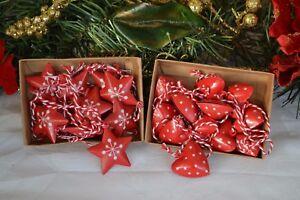GIOCO-incantevole-in-metallo-Cuori-Stelle-e-Alberi-Decorazioni-Albero-di-Natale