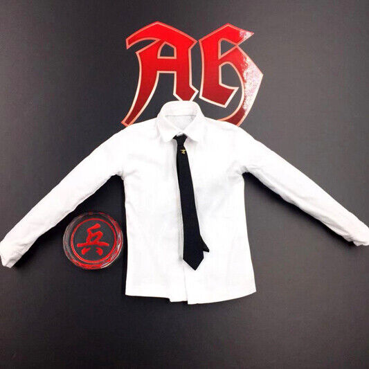 White White White Shirt & Tie for DID 3R GM641 1 6 Scale Action Figure 12'' 71a8e1