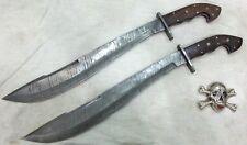Custom Handmade knife king's Damascus Machete sword pair