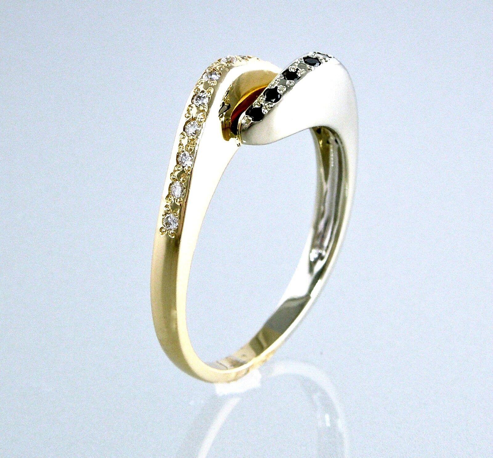 ✰ Two tone 14K Yellow White gold   Diamond & Sapphire   Designer Ring ✰