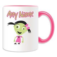 Personalised Gift Zombie Girl in Pink Mug Money Box Cup Walking Dead Devil Pet