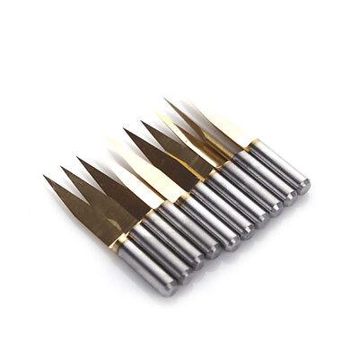 10pcs V Shape Titanium Coated Carbide PCB Engraving Bits CNC Router Tool 30 Degree 0.2mm