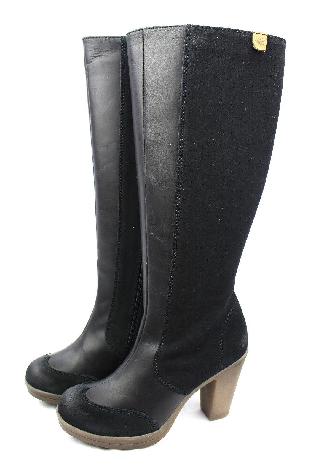 Cubanas Cubanas Cubanas señora botas sporty 520 cuero negro  venta con descuento