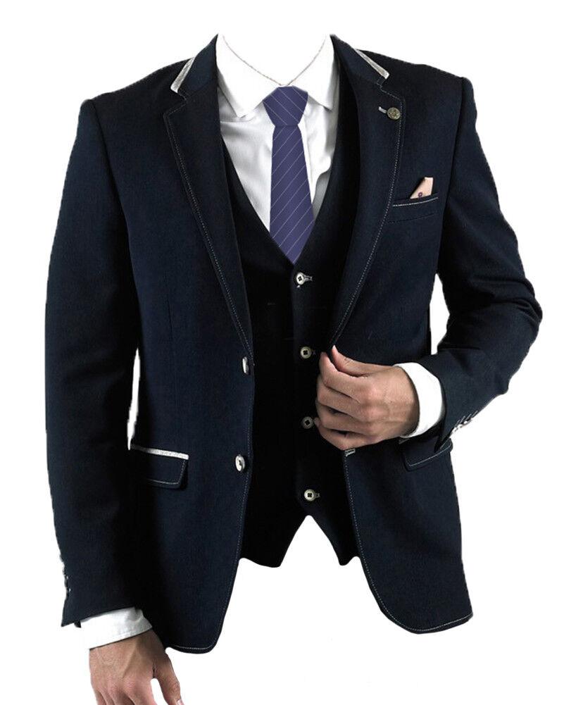 Herren Marc Darcy 2-tlg Formell Elegant Blazer Blazer Blazer & Weste Will - marineblau     Lass unsere Waren in die Welt gehen    Vielfältiges neues Design    Ein Gleichgewicht zwischen Zähigkeit und Härte  3ccbde