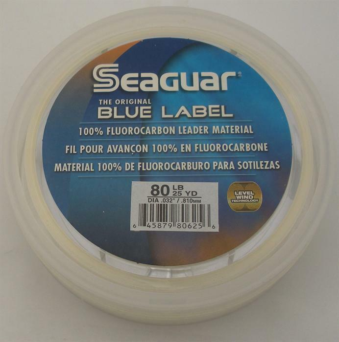 Seaguar 80FC25 Fluorocarbone Invisibile Leader Materiale 80Lb Testate 25Yd 15217