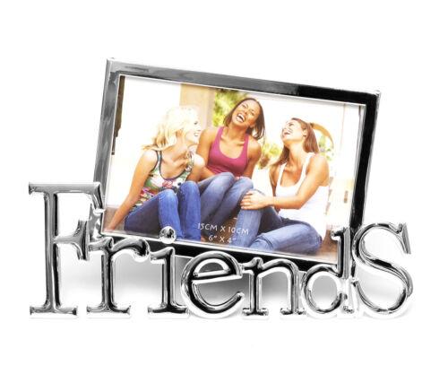 Bilderrahmen Friends Fotorahmen Metall Verchromt Freundschaft Erinnerung 10 x 15