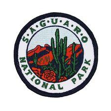 "Souvenir ""Saguaro National Park"" Patch Arizona Desert Cactus Iron-On Applique"