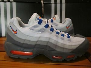 on sale 92840 b3489 Details about NEW Nike Air Max 95 Cool Gray Orange Blue 3M 7.5 749766 033  og 90 vapor 98 1 97