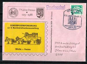 DDR-Sou-X-Bezirksbriefmarkenausstellung-Minr-1947-Sst-Worlitz-07-05-1988