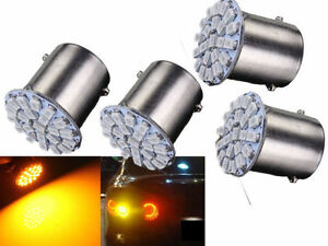 4-x-22-SMD-LED-Motorcycle-Bike-Car-Amber-Indicator-Light-Bulb-Lamp