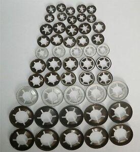 Starlock Washers For Shaft Retaining Spring Steel Star 205PCE