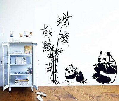 Giant Panda Home Decor Removable Wall Stickers Decal Decoration Vinyl Mural