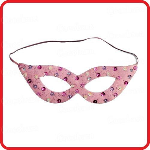 PARTY PINK FAIRY FAIRIES PRINCESS BUTTERFLY MASK WITH RAINBOW DIAMONDS-COSTUME