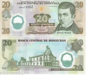 Image Is Loading Honduras 20 Lempiras Banknote World Currency Money Bill