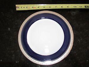 "Noritake Legendary Crestwood Cobalt Platinum 4170 accent salad plate dessert 8"""