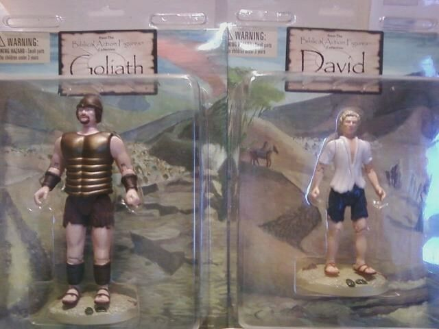 Biblische actionfiguren - david & goliath